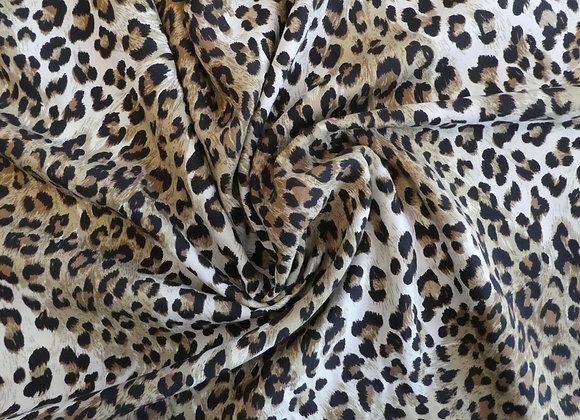 Viscose imprimé leopard