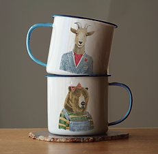Dapper Animal Mugs
