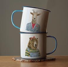 Dapper Animal Mugs