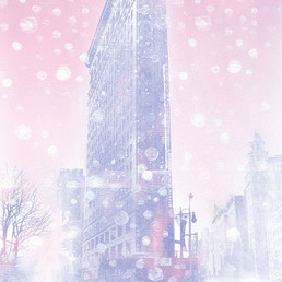 Snowfall Flat Iron Building