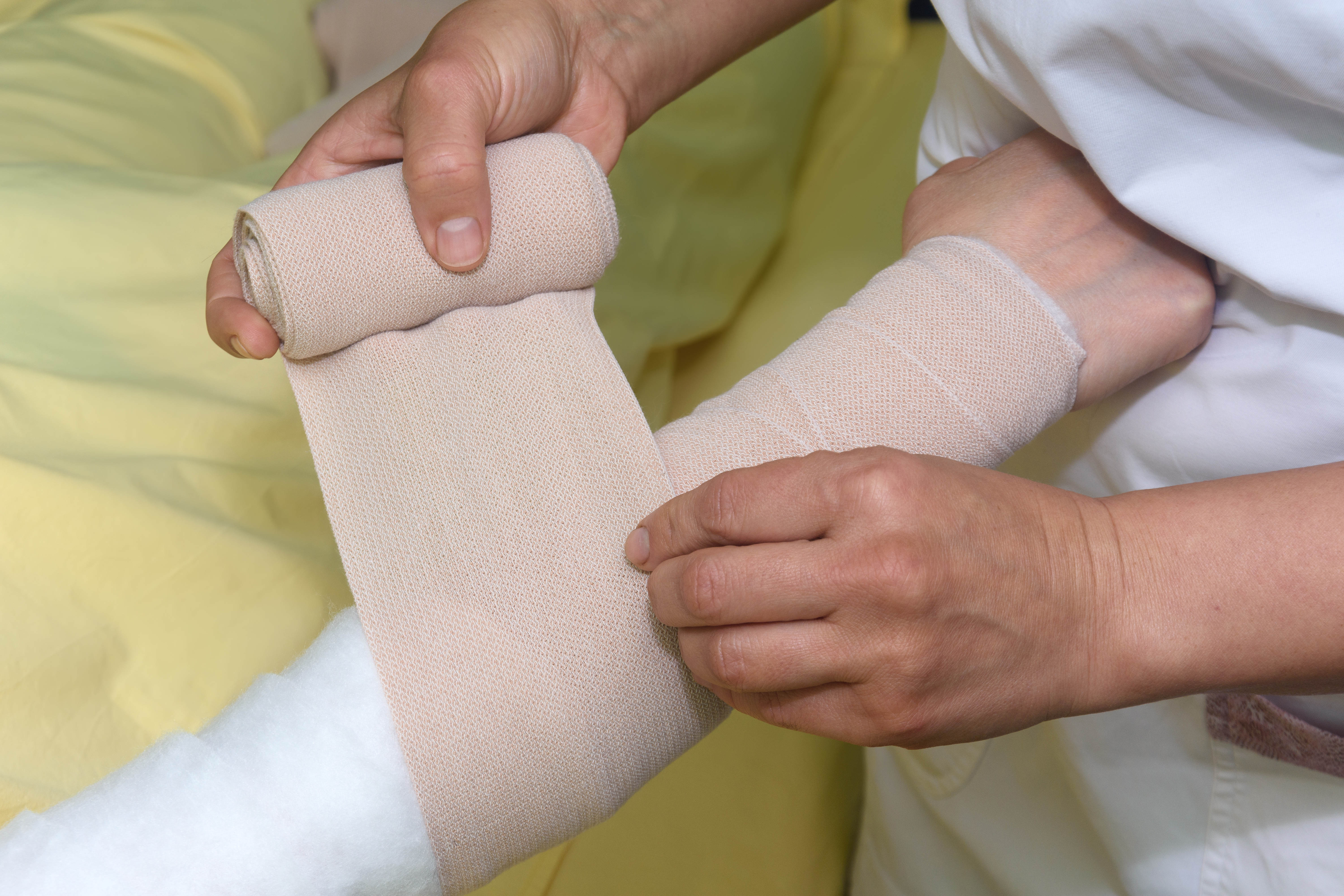 Lymphoedema management: bandaging an arm