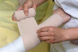 Lymphoedema management: bandaging an arm