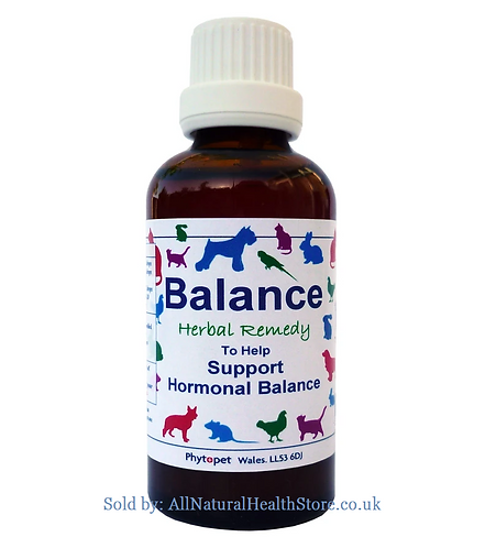 Phytopet Balance, Hormonal support, dog,cat,rabbits add to Water or Food
