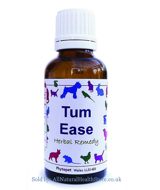Phytopet Tum Ease, Sensitive Stomachs, dog,cat,rabbits add to Water or Food