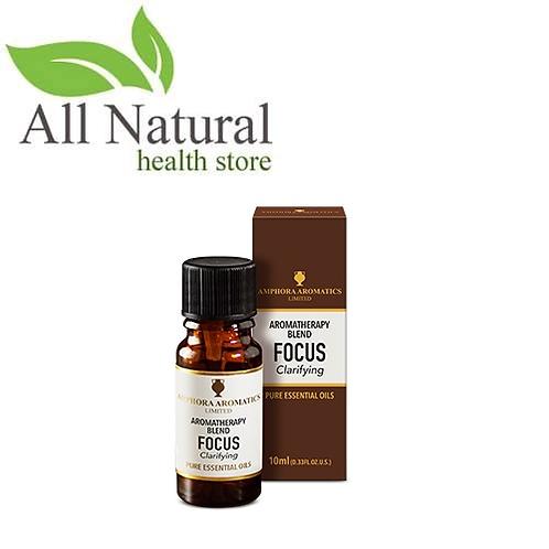 Amphora Aromatics Aromatherapy Blend FOCUS Clarifying 10ml Essential Oils