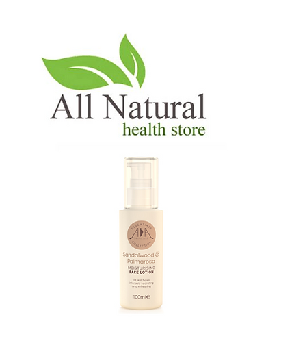 AA Skincare  Sandalwood & Palmarosa moisturising face lotion 100ml