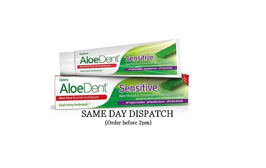 Aloe Dent Aloe Vera Sensitive with Fluoride Minty Toothpaste 100ml + Echinacea