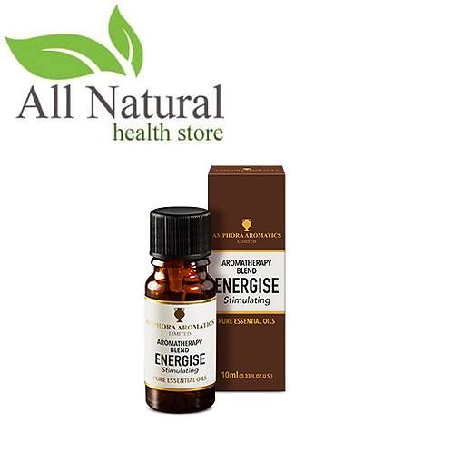 Amphora Aromatics Aromatherapy Blend ENERGISE Stimulating  10ml Essential Oils
