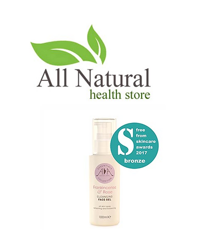 AA Skincare Frankincense & Rose cleansing face gel 100ml