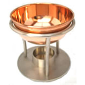 Brass/Gold Effect Metal Traditional Oil Burner for Essential & Fragrance Oils
