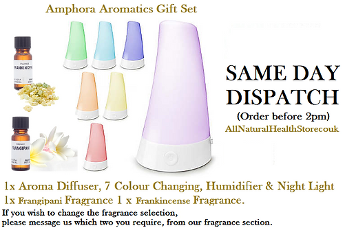 Amphora Aromatics gift set 1 Aroma Diffuser,Humidifier,night light +2 Fragrances