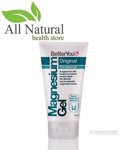 BetterYou Magnesium Original Gel 150ml, Replenish Magnesium, Muscle relaxant.