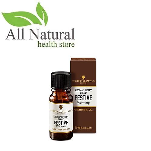 Amphora Aromatics Aromatherapy Blend FESTIVE Warming 10ml Essential Oils