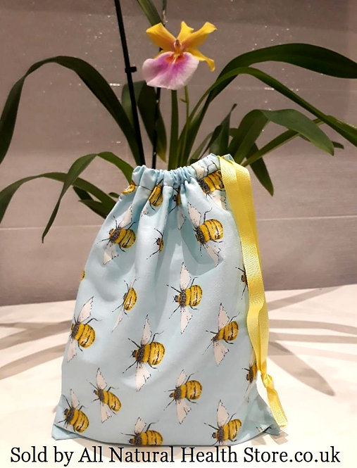 Light Blue, Bumble Bee,Yellow Ribbon Spring/Summer, Cotton, drawstring Gift