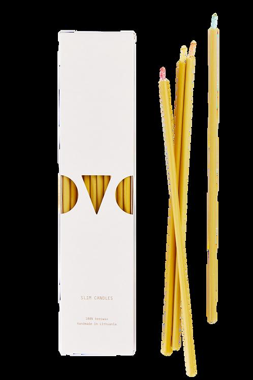 Natural Slim Candles - 10 units