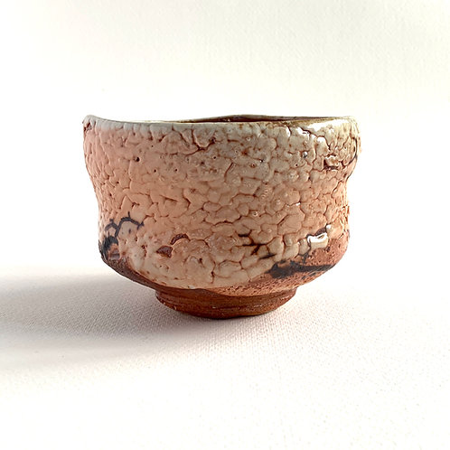 Ceramic shino bowl for matcha