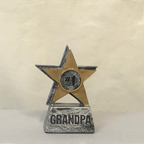 # 1 Dad/ Grandpa Star Trophy