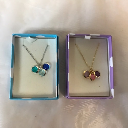 Necklace in Box- Blue and Purple