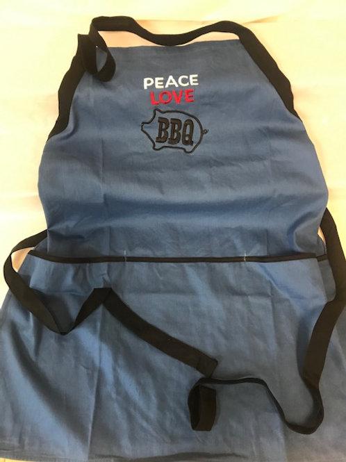 Peace Love BBQ Apron