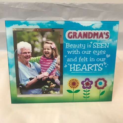 Beauty in Hearts Photo Frame -  Grandma