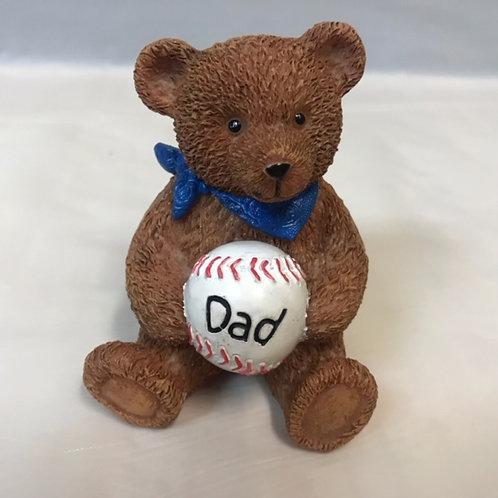 Bear w. Baseball -Dad, Grandpa