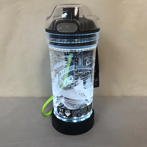 14oz Water Bottle - Light Up Fire Engine