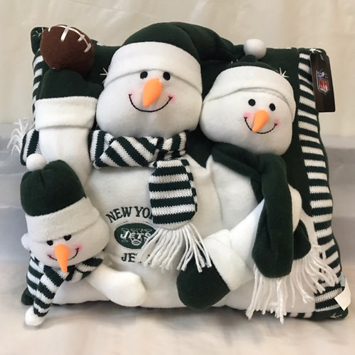 Snowman Sports Pillow - Jets/Giants