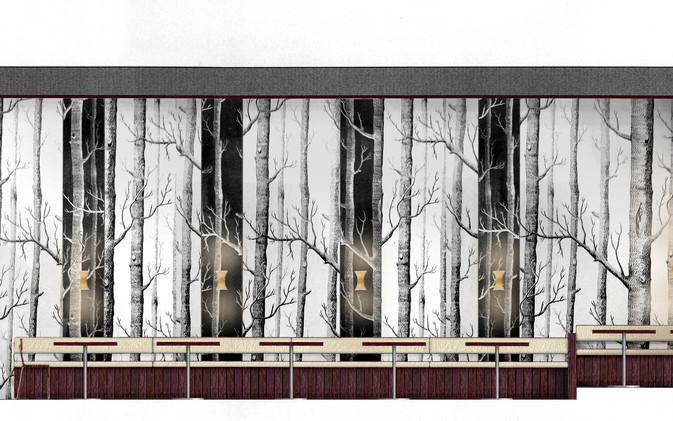 Chill / Stratford Cafe' - Wall Length Visual
