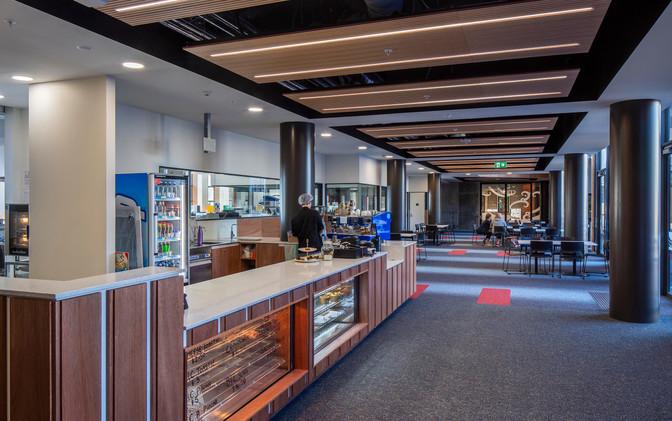 Atrium & Cafe' thru to Multicultural Space