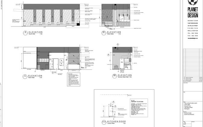 Chill / Stratford Cafe' - Interior Elevations