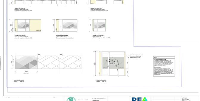 REA Glazing Film Elevations