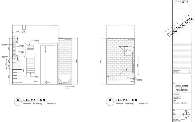 Dekkers Bathroom - Joinery Sections