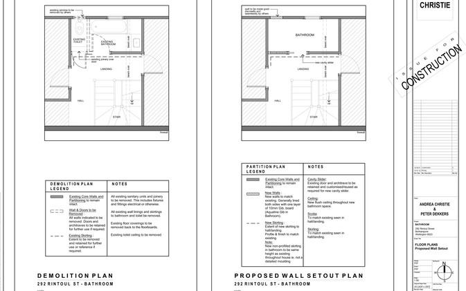 Dekkers Bathroom - Existing & Proposed Plans