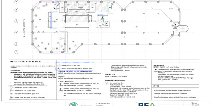 REA Wall Finishes Plan