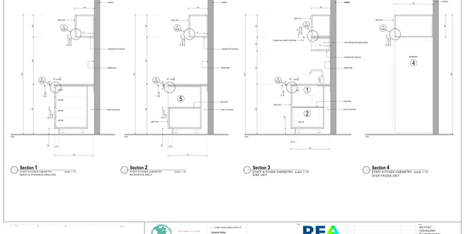 REA Refreshment Joinery Sections