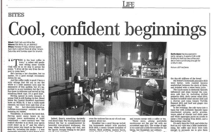 Chill / Stratford Cafe' - Newspaper_DomPost_March08