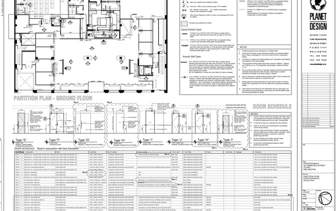 The Professionals / Gillies Group - Partition Plan & Door Schedule