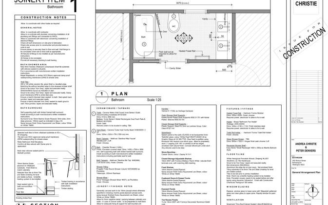 Dekkers Bathroom - General Arrangement