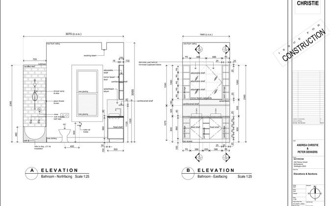 Dekkers Bathroom - Joinery Elevations