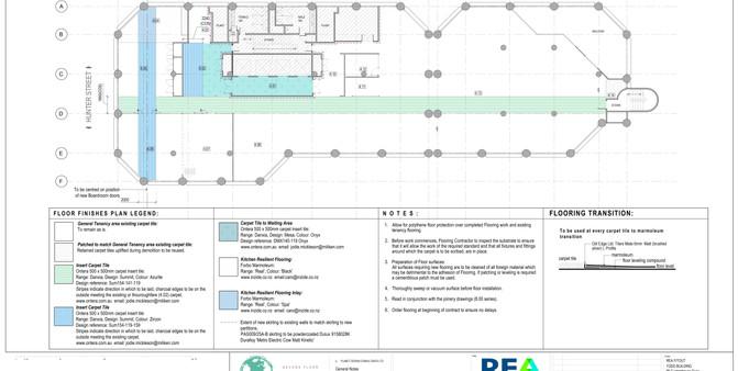 REA Floor Finishes Plan
