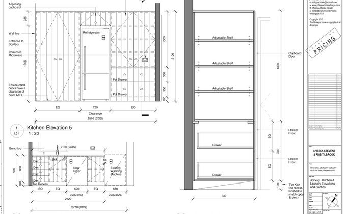 Elevations & Section