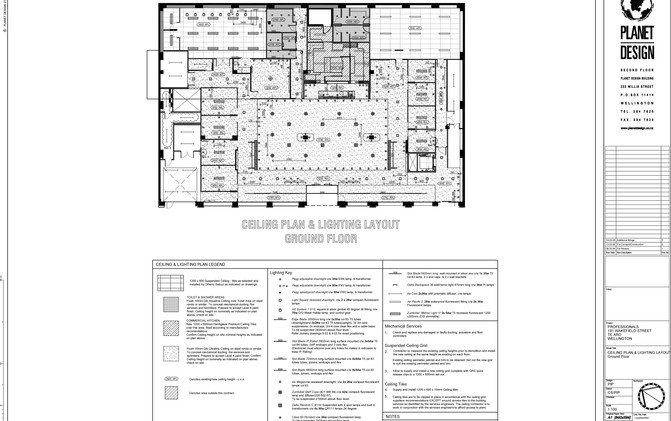 The Professionals / Gillies Group - Relected Ceiling & Lighting Plan