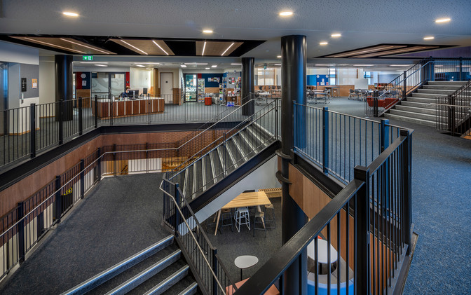 Library Counter, Atrium & Stairwell