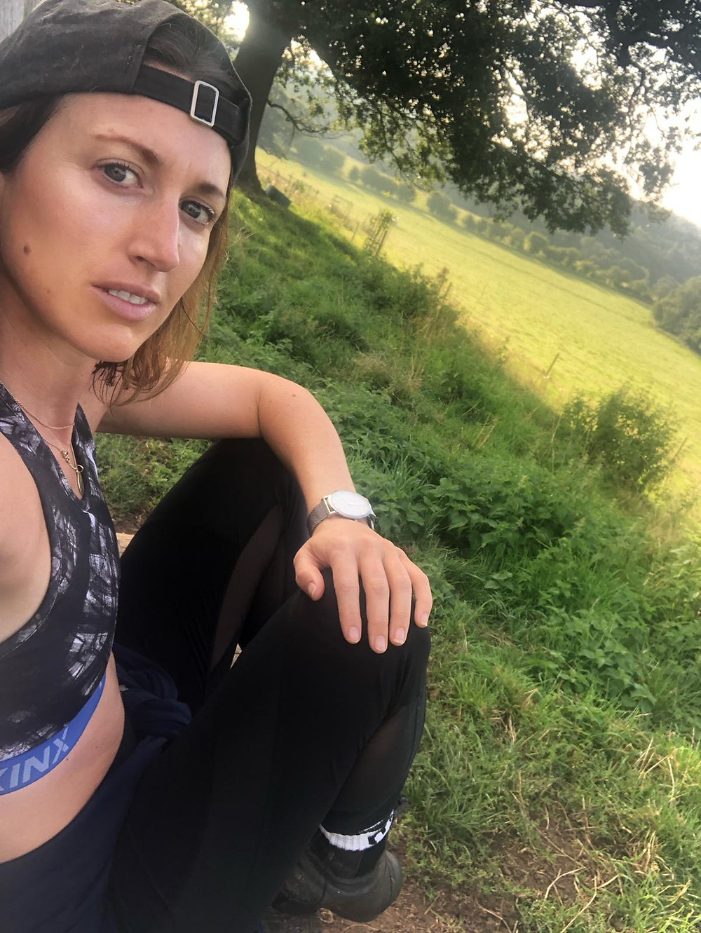 Francesca Gamble going for a run to keep fit and healthy as part of her self care routine