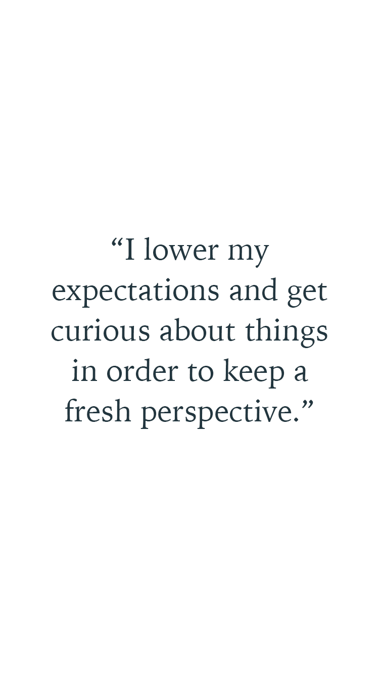 A quote by Georgie Mason about finding fresh perspectives in her self-care routine