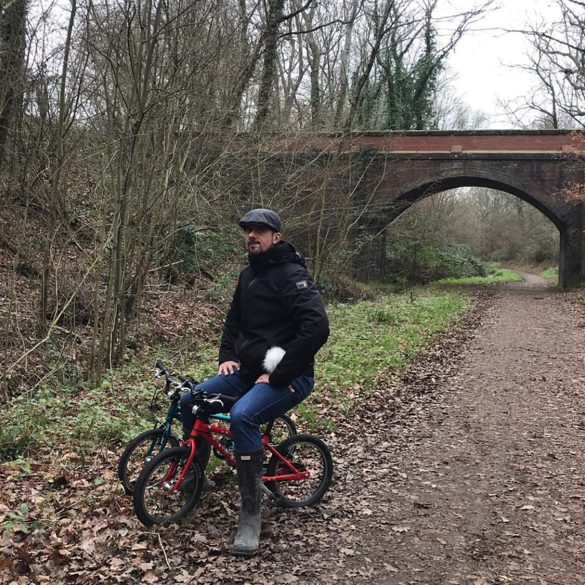 Rob Stephenson on a countryside bike ride keeping fit and healthy