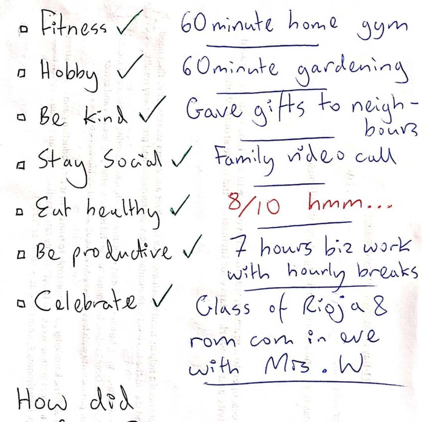 Daryl Woodhouse the entrepreneur trying to be productive by making a list