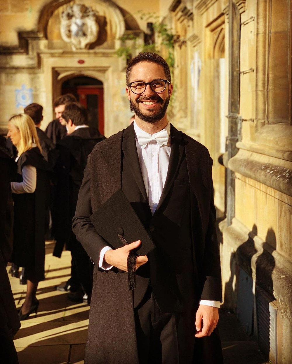 A photo of Eduardo Gutierrez graduation at oxford