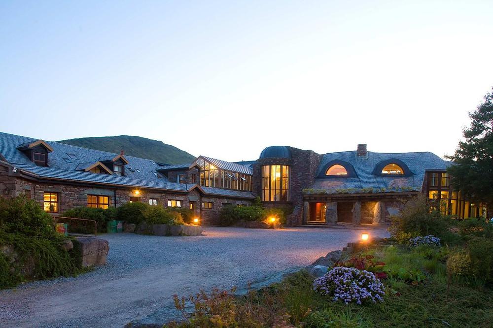 Delphi Resort, County Galway in Ireland, at night