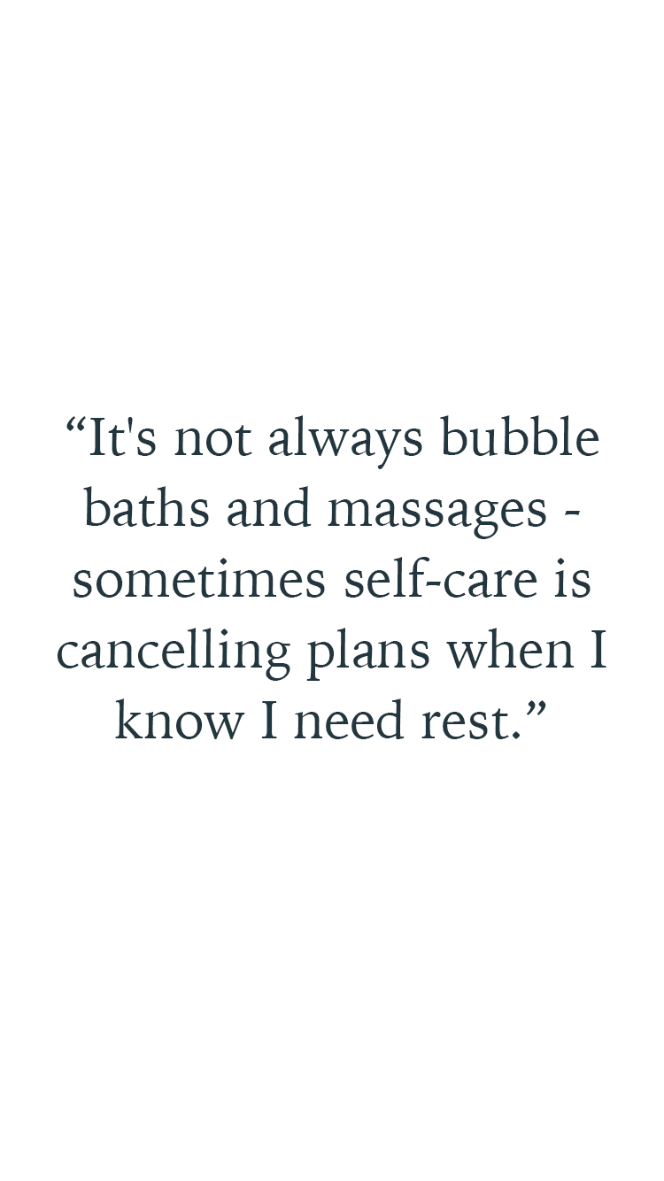 Eva Ramirez quote about how her self care routine